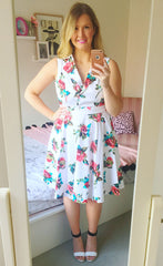 Lana White Floral Dress