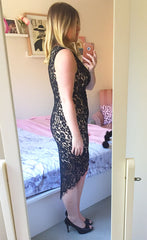 Lean In Black Lace Dress