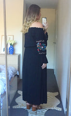 Liberty Black Maxi Dress