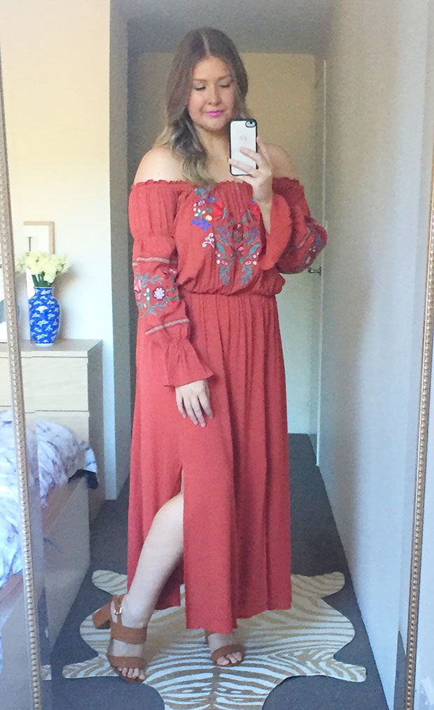Liberty Rust Maxi Dress