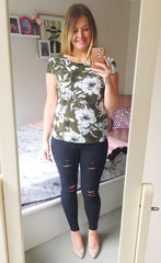Lotus Green Floral Top