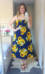Louie Sunflower Print Dress