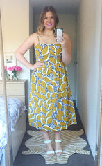 Louie Mustard Print Dress
