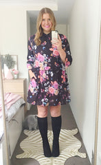 Love Story Black Floral Dress