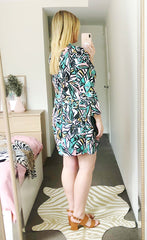 Love Story Green Abstract Dress