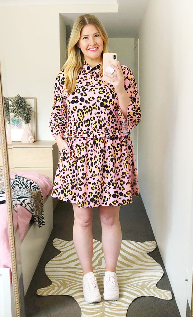 Love Story Pink Leopard Dress