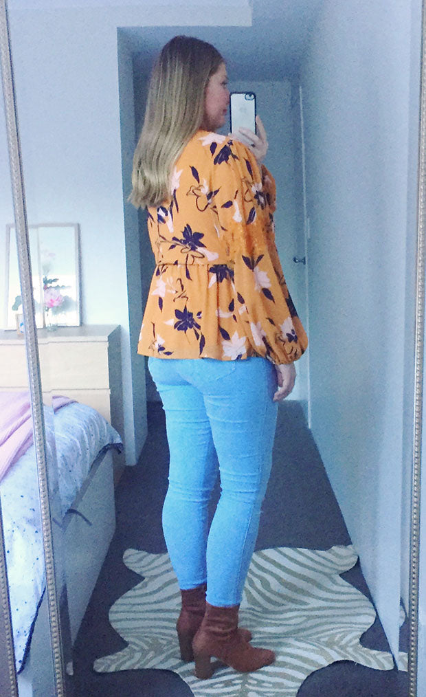 Luxe Mustard Floral Blouse