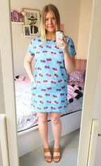 Maggie Cherry Print Dress
