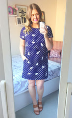 Maggie Cat Print Dress