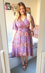 Mandy Aztec Wrap Dress