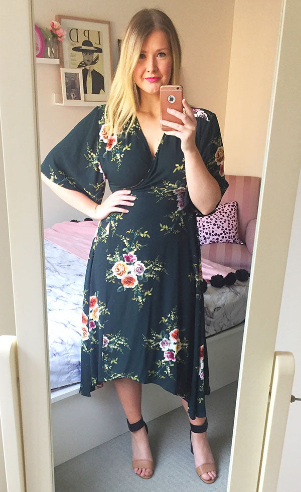 Mandy Dark Green Wrap Dress