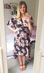 Mandy Orange Tropical Dress