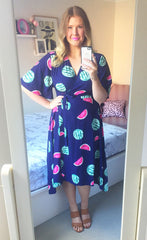 Mandy Watermelon Wrap Dress