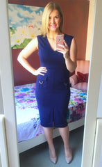Manhattan Navy Midi Dress