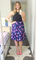 Marayna Flamingo Print Skirt