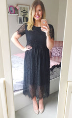 Mary Black Lace Dress