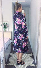 May Black Floral Dress
