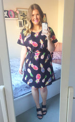 Megan Pineapple Print Dress