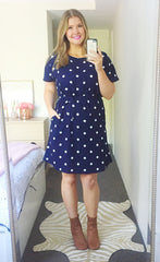 Megan Polka Dot Dress