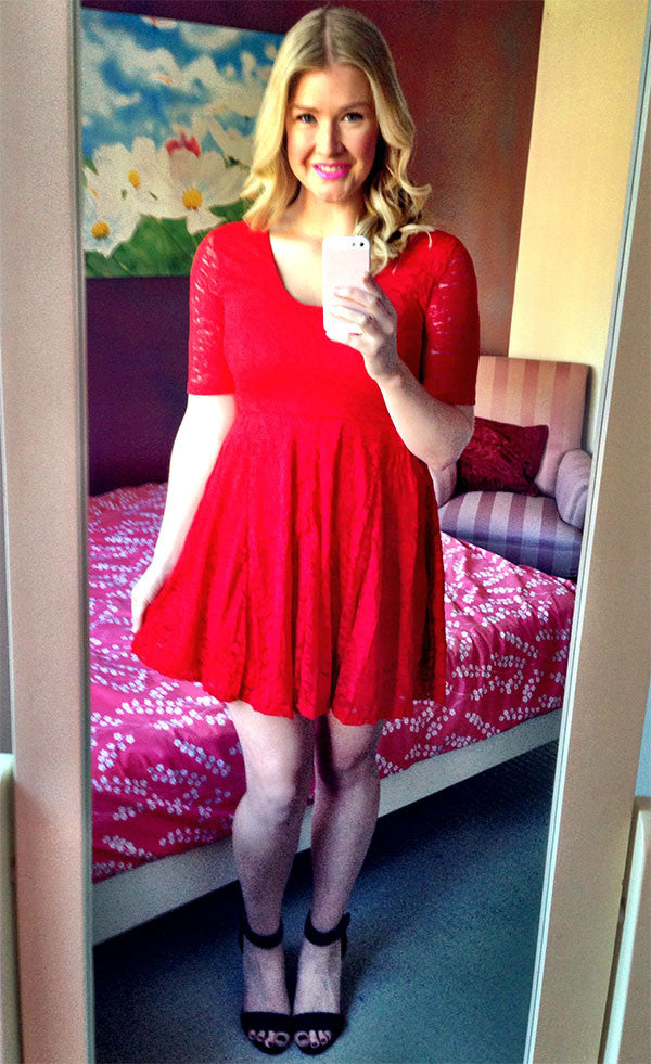Mercury Red Lace Dress