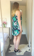 Mia Black Tropical Dress