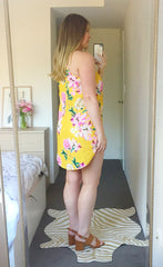 Mia Yellow Floral Dress