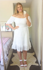 Natalia White Lace Dress