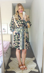 Ocean Paisley Shirt Dress
