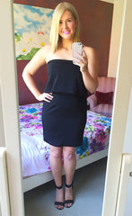 Ophelia Black Strapless Dress