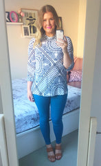Patty White Print Top