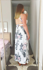 Penny White Floral Maxi Dress