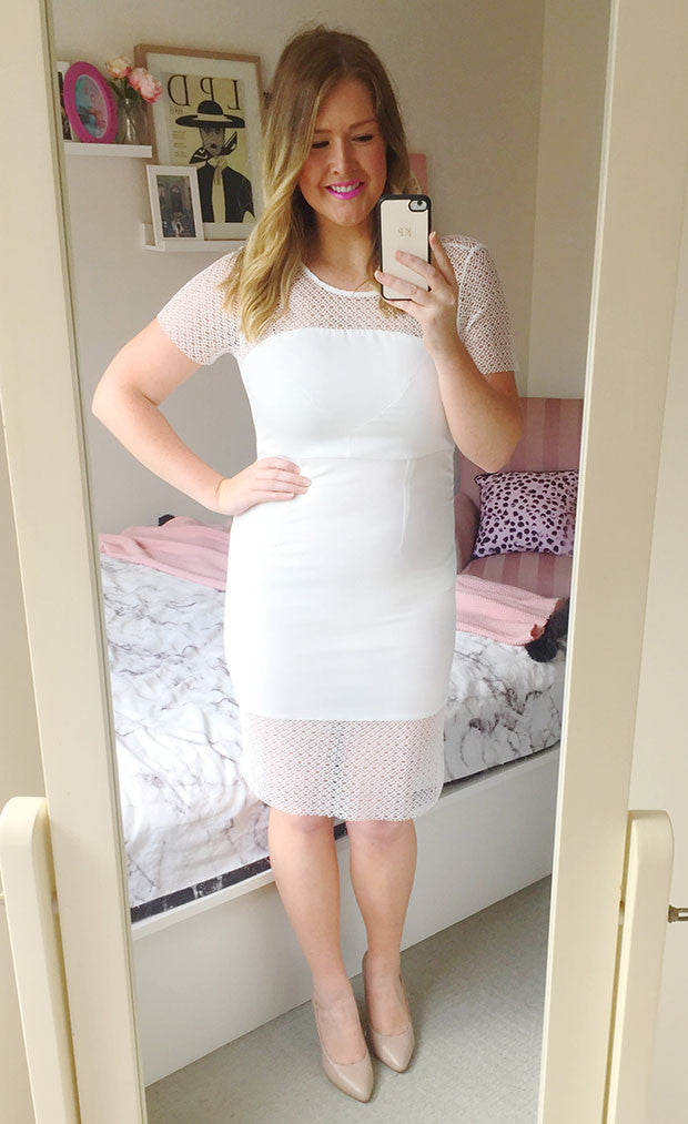 Polished White Dress