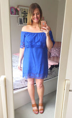 Polly Blue Lace Dress