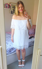 Polly White Lace Dress