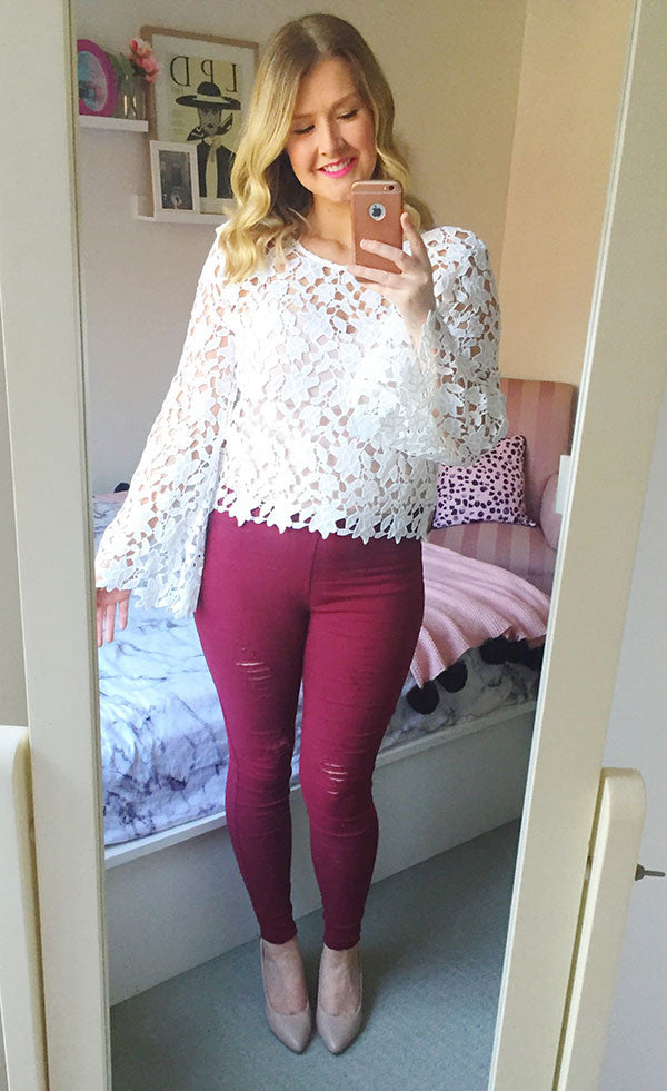 Pure White Lace Top