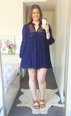 Rambling Navy Dress