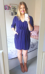 Renee Navy Stripe Dress