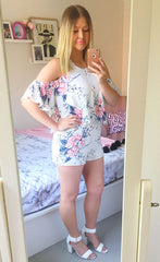Rikki White Floral Playsuit