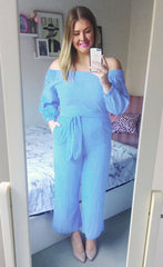 Riley Blue Stripe Jumpsuit
