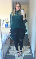 Rival Green Lace Top
