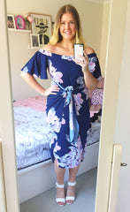 Rodeo Drive Floral Navy Dress