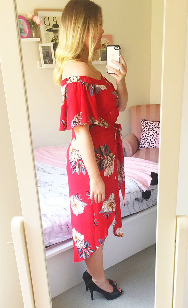 Rodeo Drive Red Print Dress