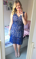 Romance Navy Lace Dress