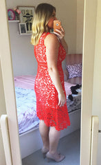 Romance Red Lace Dress