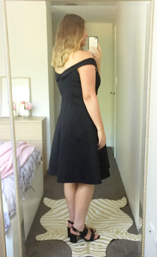 Royal Black Dress