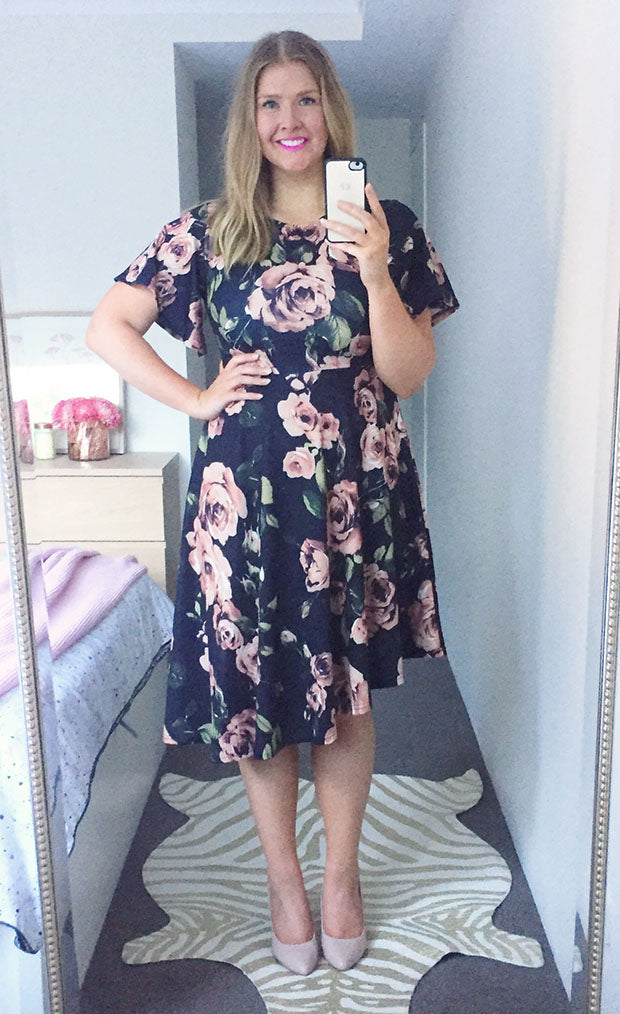 Ruby Black Floral Dress