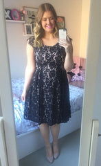 Sally Black Lace Dress