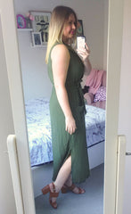 Scarlett Khaki Dress