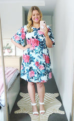 Sheree Mint Floral Dress