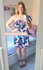 Shoulders Out Abstract Dress